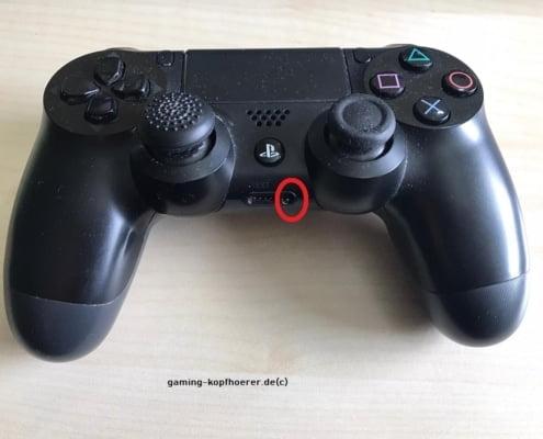 PS4 Headset anschließen